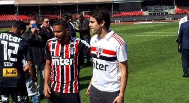 Reinaldo e Kaká - camisa São Paulo