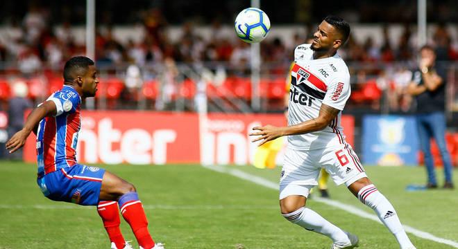 Reinaldo lamentou empate sem gols contra o Bahia no Morumbi