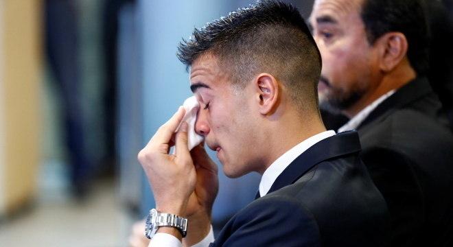 Reinier chorou na apresentação oficial no Real Madrid