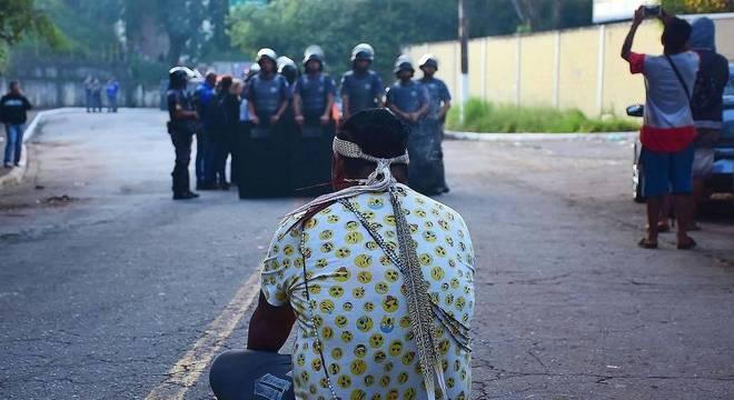 Tropa de Choque acompanha reintegração de posse em área ocupada por indígenas