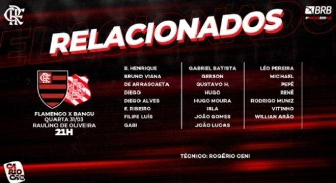 Relacionados - Bangu x Flamengo
