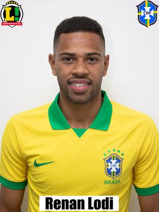 Renan Lodi - 7,5: Jogou boa parte da partida como ponta esquerda e não precisou se preocupar com a parte defensiva. Deu assistência para o primeiro gol de Firmino e fez boa dupla com Neymar.