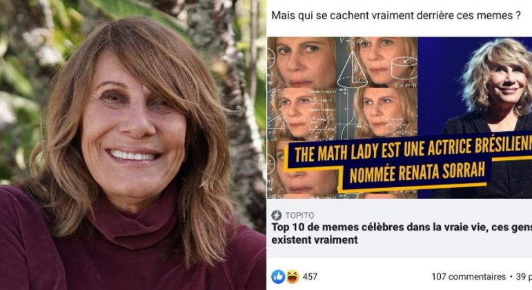 Renata já compartilhou esse e outros memes sobre ela, mostrando que não se incomoda com a brincadeira. Ela chegou a virar notícia em sites de vários países