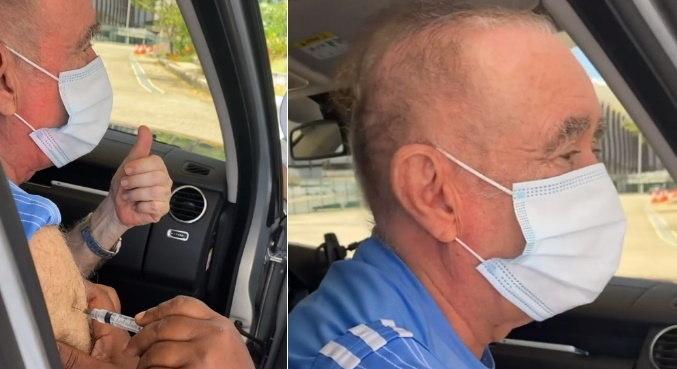 Família de Renato Aragão comemorou que ator tomou segunda dose de vacina