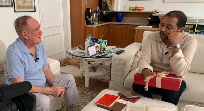 Geraldo Luis entrevistou Renato Aragão na semana em que ele completou 86 anos