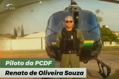 Na imagem, o piloto Renato de Oliveira Souza