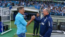 Renato Gaúcho, e seu Flamengo, contra o Grêmio, de Felipão