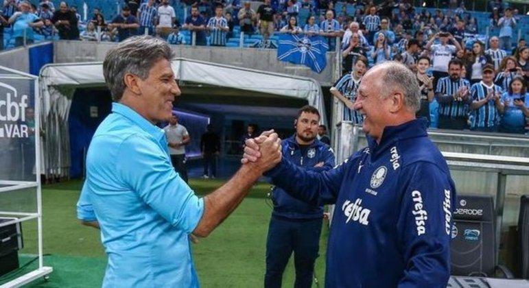 Renato e Felipão. O grande duelo nas quartas da Copa do Brasil. Flamengo e Grêmio