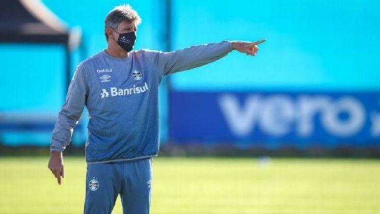 RENATO GAÚCHO: o ídolo do Grêmio deixou o comando do clube após a eliminação na Libertadores 2021, para o Independiente Del Valle. Em sua terceira passagem como técnico do Imortal, Renato conquistou Copa do Brasil (2016), Libertadores (2017), Recopa Sul-Americana (2018), três estaduais (2018, 2019 e 2020) e uma Recopa Gaúcha (2019)
