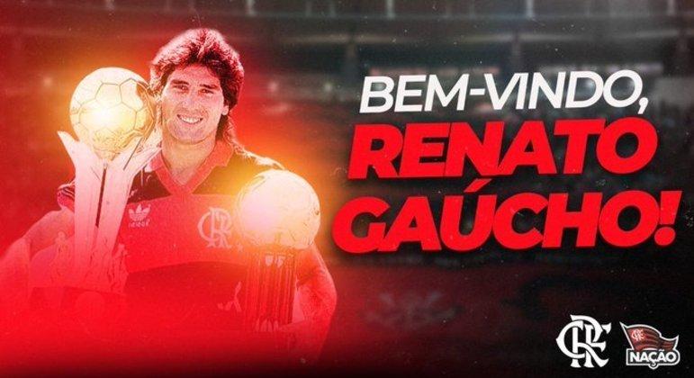 Menos de 24 horas depois de demitir Rogério Ceni, o Flamengo anuncia Renato Gaúcho