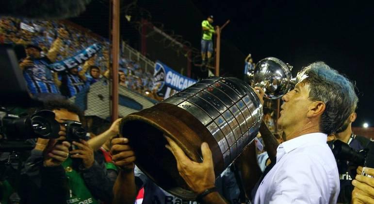 Renato Gaúcho no seu auge. Vencedor da Libertadores em 2017. Ídolo maior