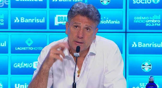 Renato Gaúcho irritado. Ameaça nomear jornalistas que cobrem Grêmio e torcem para Inter
