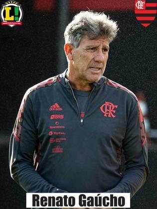 RENATO GAÚCHO - 8,5 - O primeiro tempo foi ruim, mas o técnico consertou os problemas no vestiário. As substituições deram certo, devolveram ao Flamengo a intensidade necessária e o time soube encaixar os contra-ataques.