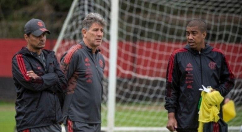 Renato Gaúcho, Alexandre Mendes e Marcelo Sales - Flamengo