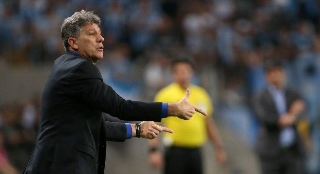 Renato Gaúcho na semifinal da Libertadores contra o River Plate