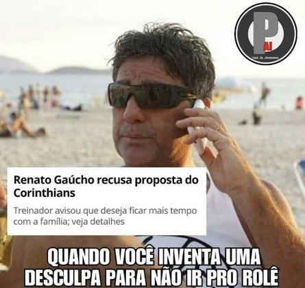 Renato Gaúcho não acerta com o Corinthians e fato vira meme nas redes sociais