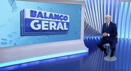"Renato Lombardi ""dentro"" do ""Balanço Geral"""