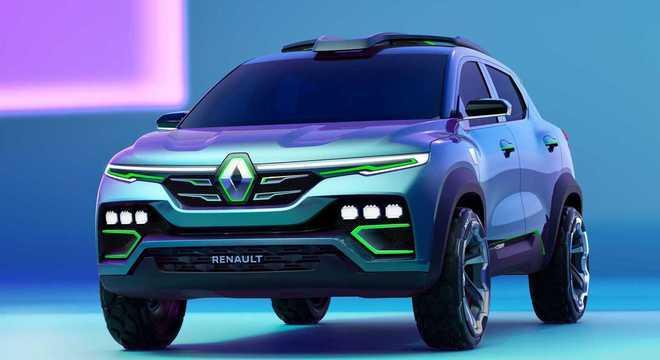 A Renault divulgou detalhes e imagens do Kiger, uma espécie de micro-SUV baseado na plataforma do Kwid.