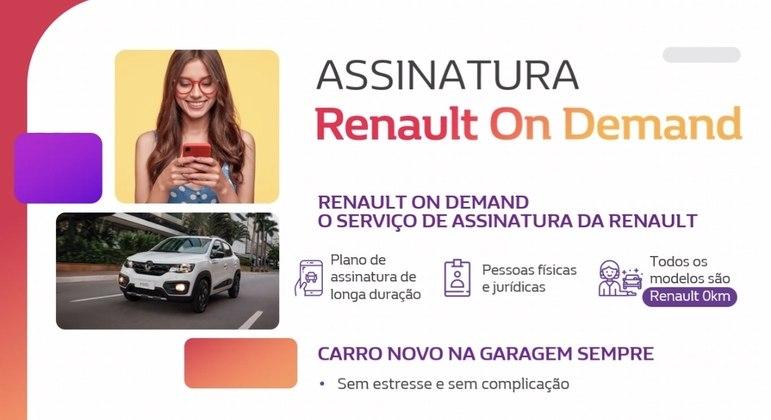 A Renault apresentou hoje (20), o programa Renault On Demand, que consiste no serviço de carros por assinatura