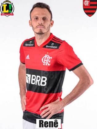 Renê - 6,0 - Titular na vaga do poupado Filipe Luís, o lateral, apesar de não ser brilhante, teve atuação segura e sólida nos dois lados.
