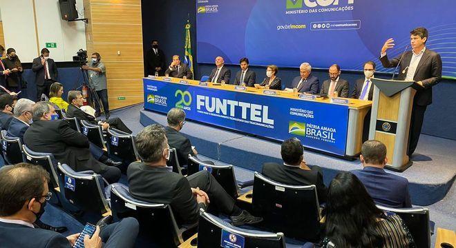 Evento em que foi anunciado o repasse de R$ 409 milhões