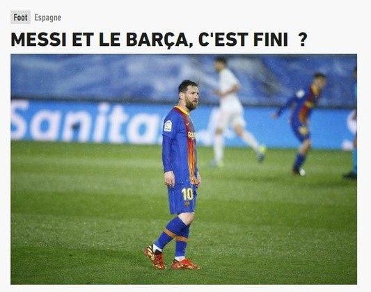 Repercussão da saída de Lionel Messi do Barcelona no L'Equipe, da França.