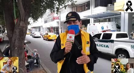 Repórter relatou morte da própria mulher, ao vivo, na TV