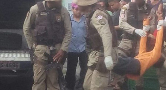 As agressões continuaram até a chegada da polícia