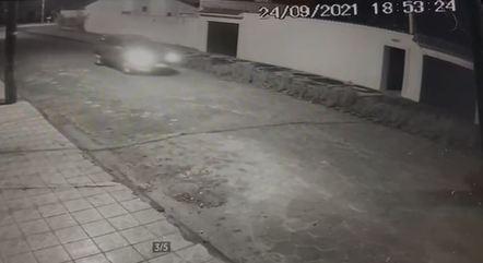Câmera de segurança mostra ação de bandidos