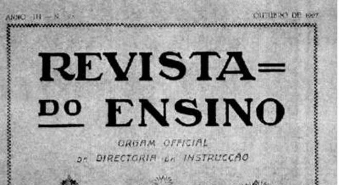 Reprodução da capa da Revista do Ensino de outubro de 1927, que celebrou os 100 anos da lei de Dom Pedro I.