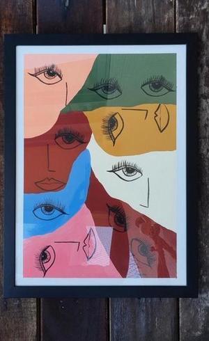 Reprodução do quadro de Marina Chebabe, um dos itens já confirmados do leilão