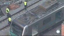 Apuração inicial indica cabo partido como causa de fogo em trem no Rio