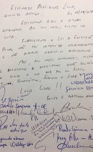 Carta de apoio a Lula assinada por nove governadores do Norte e Nordeste