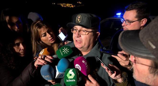 Porta-voz da Guarda Civil de Málaga falou à imprensa sobre criança em poço