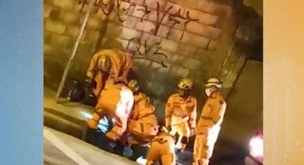 Militares quebraram concreto para resgatar suspeito