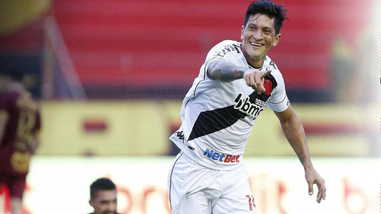 Responsável por quase metade dos gols feitos pelo Vasco em 2020, Germán Cano tem 18 bolas na rede em 33 partidas jogadas. O Vasco ao todo, possui 37 gols na temporada.
