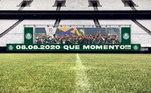 Assim que acabou o Dérbi e o Palmeiras venceu por 2 a 0, com gols de Luiz Adriano e Gabriel Veron, o clube publicou nas redes sociais uma resposta, lembrando a conquista do Paulistão deste ano. A legenda foi: 'Agora sim… #QueMomento'