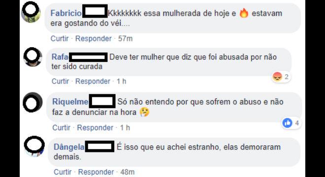 Algumas respostas publicadas no Facebook