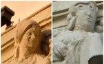 Uma estátua decorativa em um edifício localizado na cidade de Palência, na Espanha, virou meme nas redes sociais depois que uma restauração patética foi realizada*Estagiária doR7, sob supervisão de Filipe Siqueira
