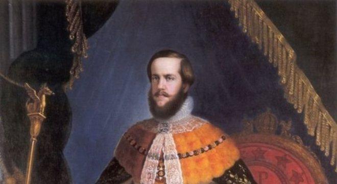 Retrato de Dom Pedro 2º quando jovem
