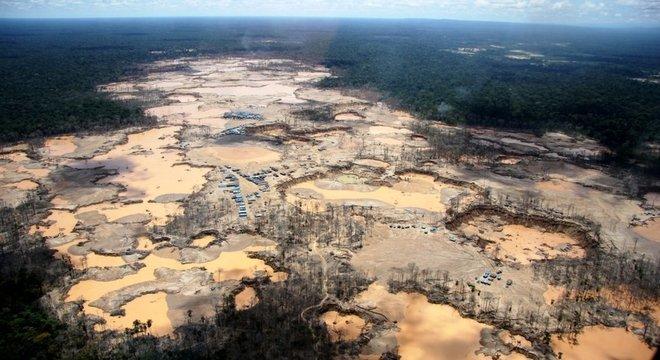 Retrato do desmatamento da Amazônia em Madre de Dios, no Peru