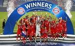 A UEFA decidiu terminar os torneios de clube em um único país, sem torcida e com as disputas de mata-mata em jogos únicos. A Champions League foi em Lisboa, Portugal e o grande campeão foi o Bayern de Munique, da Alemanha