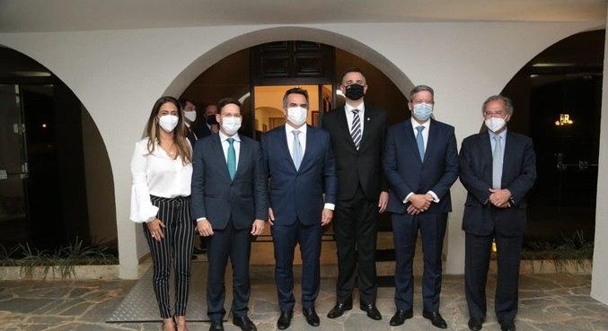 Flávia Arruda, João Roma, Ciro Nogueira, Rodrigo Pacheco, Arthur Lira e Paulo Guedes