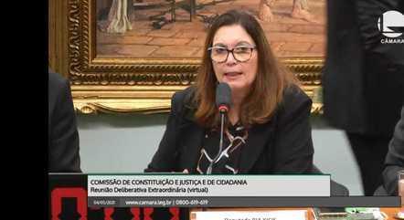 Reunião da CCJ presidida pela deputada Bia Kicis