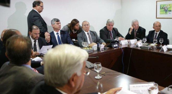 Reunião de representantes dos caminhoneiros com ministros Eliseu Padilha e Carlos Marun
