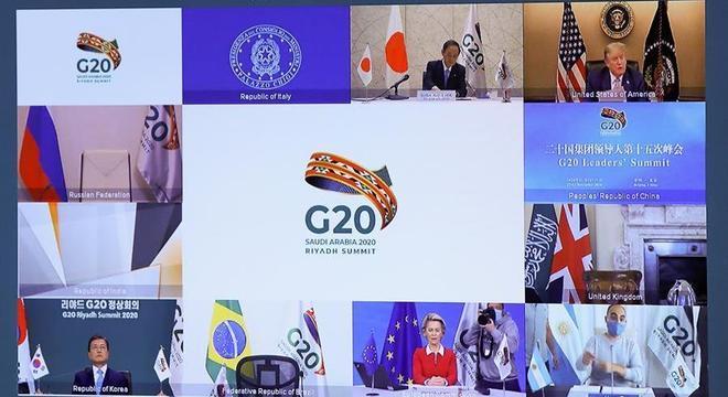 Reunião do G20 feita de forma virtual em 2020