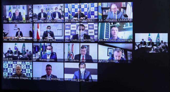 Governadores se reuniram por videoconferência com presidente Jair Bolsonaro