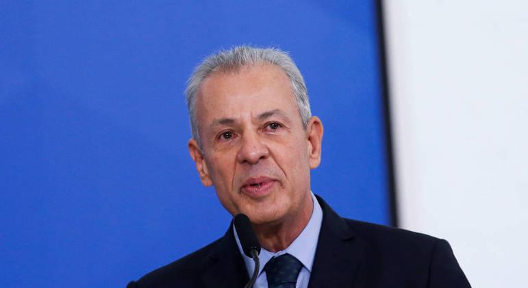 O ministro de Minas e Energia, Bento Albuquerque, durante evento