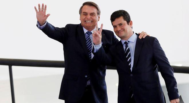 Bolsonaro com Moro em evento em 2019