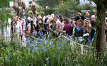Visitors attend the final day of the Chelsea Flower Show, delayed from its usual spring dates because of the lockdown restrictions amid the spread of the coronavirus disease (COVID-19) pandemic in London, Britain, September 26, 2021. REUTERS/Henry Nicholls